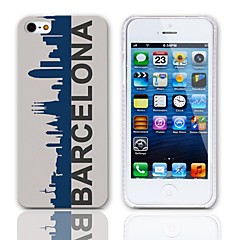 Barcelona Style Hard Case with 3-Pack Screen Protectors for iPhone 5/5S