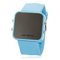 Unisex LED Digital Helle bunte quadratische Gehäuse Silikon-Band-Armbanduhr (verschiedene Farben)