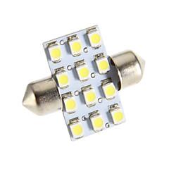 Festoon 12-LED 6000K Cool White Light LED Bulb for Car (12V)