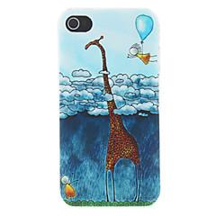 Dětské Jednoduchost žirafa a lidské Reliéfní vzor, matný Určeno PC Pevné pouzdro pro iPhone 4/4S