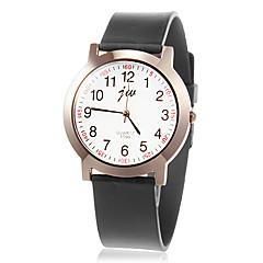 Mujeres Sencillo dial redondo Rubber Band cuarzo reloj de pulsera analógico (colores surtidos)