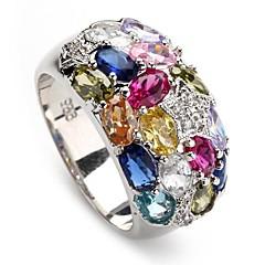 мода 925 посеребренные медные циркон кольцо