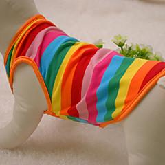 Gatos / Perros Camiseta / Ropa / Ropa Arco iris Verano / Primavera/Otoño Rayas Moda