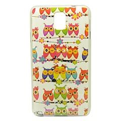Uilen op het patroon Mast IMD Craft Smooth TPU Case voor Samsung Galaxy Note N9000 3
