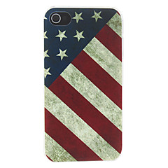 Vintage American Flag Pattern Matte Suunniteltu PC Hard Case for iPhone 4/4S