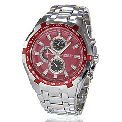 Homens Desportivo Round Dial Liga banda quartzo analógico relógio de pulso