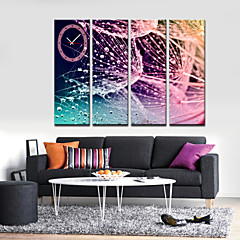Modern Style Abstract Pattern Wall Clock in Canvas 4pcs