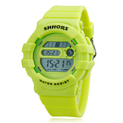 Children's Multi-Function LCD Digital Rubber Band Running Hiking Fitness Wrist Watch (Assorted Colors)