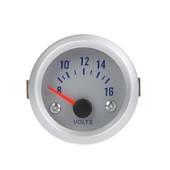 Spænding Meter Gauge Voltmeter for auto bil 2 52mm 8-16V Orange Lys