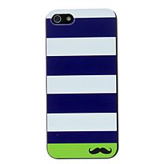 Stripe e bigode Padrão Hard Case para iPhone 5/5S PC