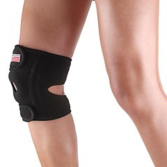Silicone Sports Knee Patella 4 spring Support Brace Cap Wrap Protector Pad - Free Size