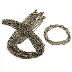 Cadenas de bronce de la aleación de la vendimia 10 PC / Bolsa