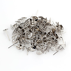 Classic RoundSilver Alloy Earring Backs 100 Pcs/Bag