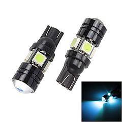 Merdia T10 1.5W 250lm 4 x 5050 SMD LED + 1 condensador Lente Blue Ice Light Car luz de la cola (12 V / 2 piezas)