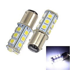 Merdia 1157 13 * 5050 SMD LED White Light Car Brake / Ohjausjärjestelmä Light (2 kpl)
