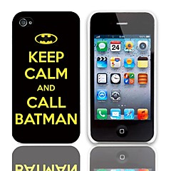 Call Batman Design Hard Case with 3-Pack Screen Protectors for iPhone 4/4S
