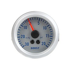 Turbo Boost Vacuum Gauge Meter voor Auto 2 52mm 0 ~ 30in.Hg 0 ~ 20psi Oranje Licht