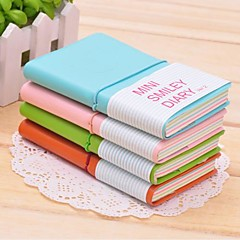 Mini Smile Face Pattern PU Leather Notabook(Large)