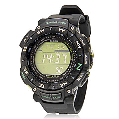 Men's Multi-Function Digital Backlight Black Rubber Band Outdoor Sports Wrist Watch (Assorted Colors)
