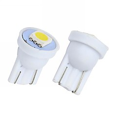 Merdia 2W 90LM 1x5050SMD T10 LED White Light Car Instrument / Bremslicht-Lampen (2 PCS / 12V)