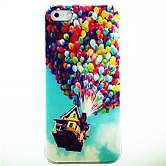 Farverige balloner Mønster PC Hard Case med sort ramme til iPhone 4/4S