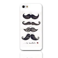 Moustache Motif Hard Case avec protection d'écran 3-Pack pour iPhone 5/5S