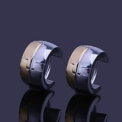 Miss ROSE®Titanium Steel Hoop Earrings For Men