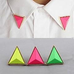 사탕 색깔 삼각형 고리 목걸이