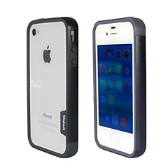 Fashion Double Color TPU Frame Bumper for iPhone4S(Black+Gray)