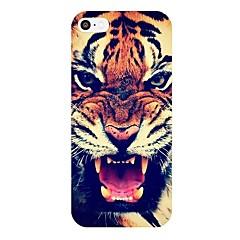 Roaring Tiger Pattern Frame PC caso duro para el iPhone 5/5S