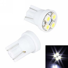 Merdia T10 4 SMD 3528 LED White Light Rekisterikilpi Light / Instrument Lamppu (2 PCS/12V)