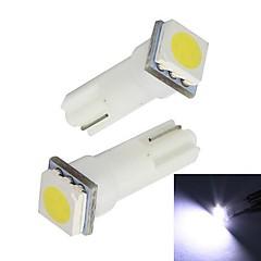 Merdia 0.25W 14LM T5 1x5050SMD LED White Light Car Instrument / License Plate Lamp(12V / Pair)