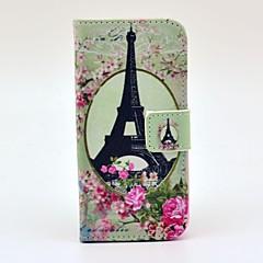 Πύργος του Άιφελ Rose Σχεδιασμός Πλήρης υπόθεση του σώματος με τη στάση και υποδοχή κάρτας και κατόχου χρήματα για το iPhone 5/5S
