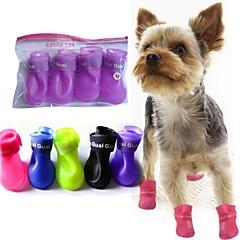 Toate Sezoanele - Albastru / Roz / Negru / Galben / Mov - Impermeabil - Plastic - Șosete & cizme - Câini - M / S / L