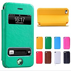 Uuden Smart Luxury Flip Leather Cover Case for iPhone 4/4S (Assorted Colors)