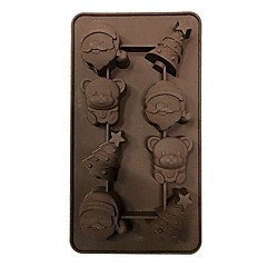 Christmas Design Silicone Ice Tray Chocolate Mold