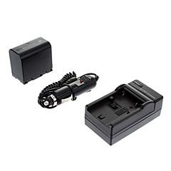 ismartdigi-JVC BN-VF823U 2250mAh, 7.4V Batteri + bil oplader til JVC GZ-HM1/MG830/HM400/MG575/HM85
