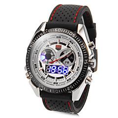 Rotondo Multi-Functional Uomo Quadrante banda di silicone quarzo analogico Sport Watch (colori assortiti)