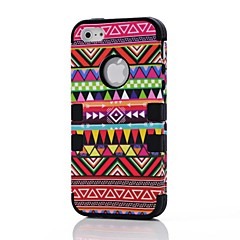 2 in 1 Tribal  Style PC and Silicone Composite Case for iPhone 4/4S(Assorted Colors)