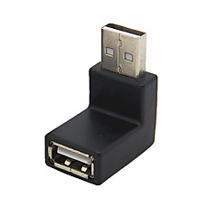 Details About  USB 2.0 A Male to A Female Extension Down Angled 90 Degree Adapter Connector
