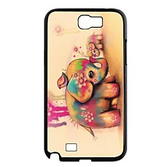 Elonbo J7C Lovely Elephant Hard Back Case Cover for Samsung Galaxy Note 2 N7100