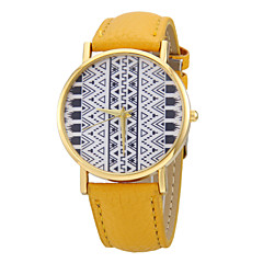 kvinners totem mønster pu bandet kvarts armbåndsur (assorterte farger)