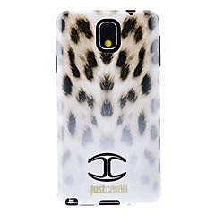 Liukuväriliuskan Valkoinen Leopard Ski Pattern Soft Anti-Shock takakannen suojakuori Samsung Galaxy Huom3 N9000