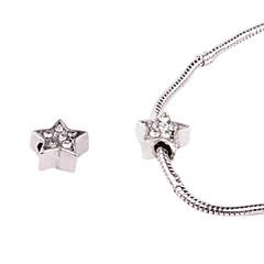 cinq points alliage d'étoiles de grand trou verticillées perles bricolage pour collier ou un bracelet