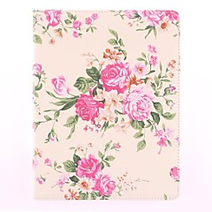 The Rose Pattern PU Leather Full Body sak med stativ for iPad 2/3/4