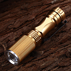 508 Adjustable Focus 3-Mode 1xCree XP-E R2 Waterproof LED Flashlights(1xAA,150LM)Gold