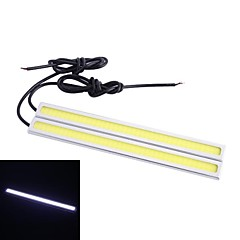 Waterproof 6W 220LM 6000K 60 COB LED Car Daytime Running Light Strip Bar - Amarelo (12V / 17 centímetros)