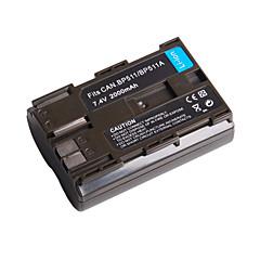 2000mah bateria câmera bp-511/511a para canon g-1 mv-300 e mais