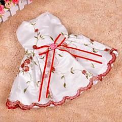 elegante flor recortada vestidos bownot para perros (tamaño)