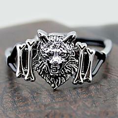Z&X®  Gothic Wolf 25cm Men's Silver Alloy With Black Acrylic Charm Bracelet(1 Pc)